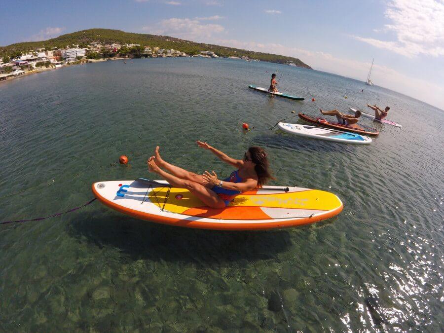 SUP Yoga Aegina