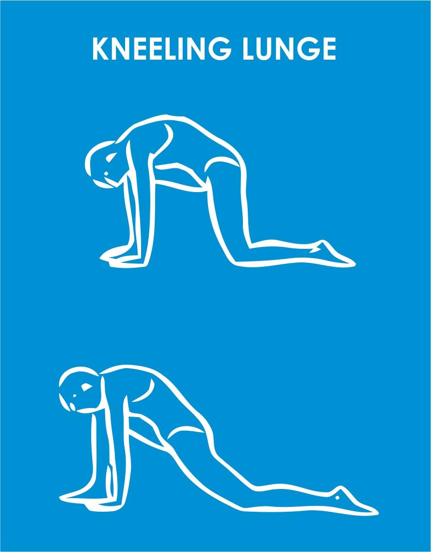 kneeling lunge