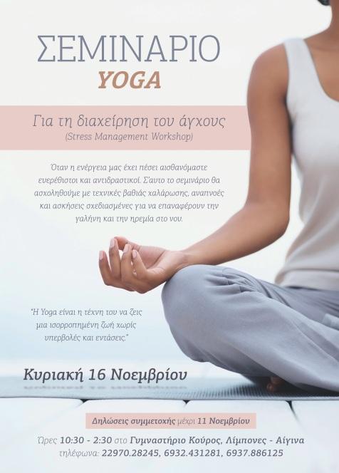 yoga seminar stress