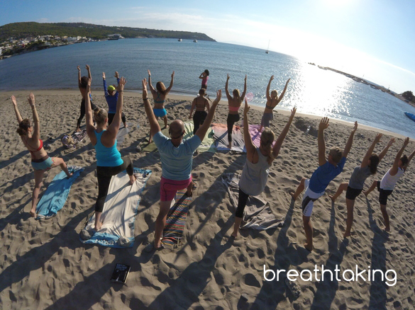 Yoga in Aegina Island Greece