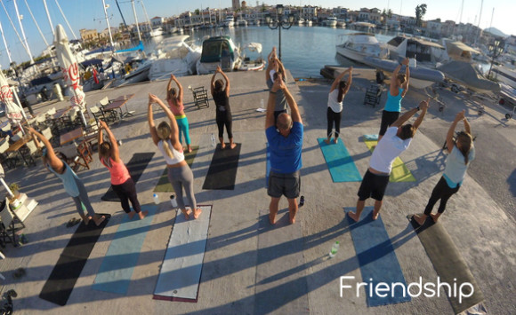Yoga in Aegina island Greece