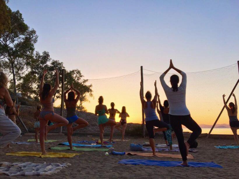 Yoga on the Beach Aegina