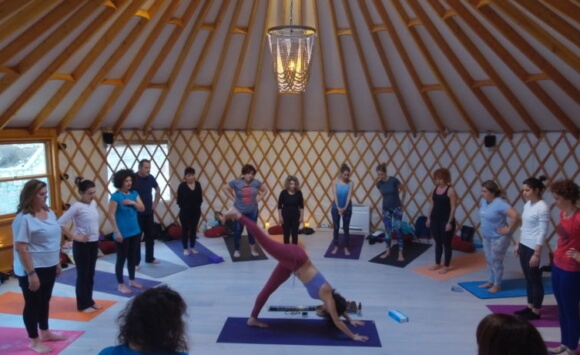 Yoga retreat in a Yurt in Greece