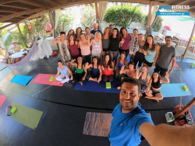 the EGG yoga Ikaria