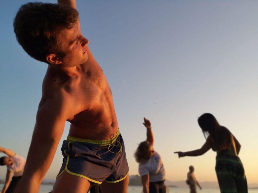 beach yoga Aegina