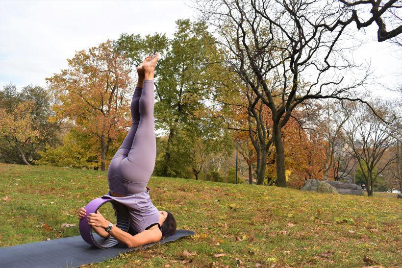 yoga wheel Sarvagasana