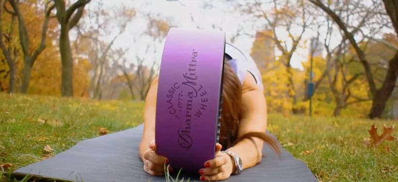 yoga wheel child's pose