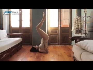 Full Soulderstand Yoga Pose by Fotini Bitrou - Pure Fitness
