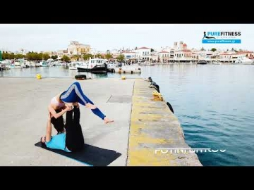 AcroYoga promo video in Aegina island Greece