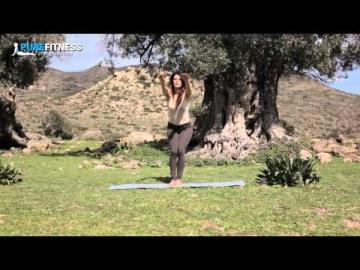 Chair Yoga Pose by Fotini Bitrou - Pure Fitness
