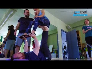 AcroYoga workshop at Kouros Gym in Aegina Greece