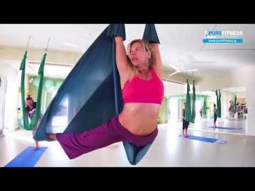 Aerial Yoga in Aegina island Greece