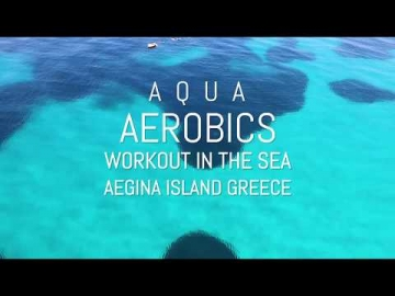 Aqua Aerobics in Aegina island Greece