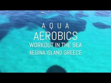 Aqua Aerobics in Aegina island Greece