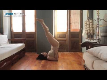 Half Soulderstand Yoga Pose by Fotini Bitrou - Pure Fitness